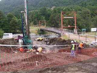 A Toda Maquina Se Construye Puente Quiñenahuin