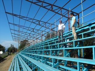Avanzan Obras De Techumbre En Estadio Municipal De Villarrica