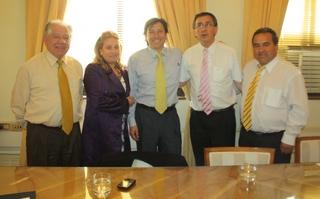 Alcalde De Loncoche Se Reunió Con Ministro De Obras Públicas Laurence Golborne