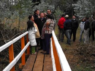 Inauguran Pasarela Rural En Sector Huentecol Lleuful De Padre Las Casas