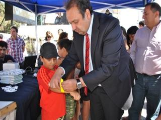 "En Playa Grande De Pucón PDI Lanzó Campaña Preventiva ""SEBRA 2013"""