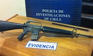 Corte De Temuco Confirmó Prisión Preventiva a Sujeto Que Se Le Incautó Fusil M-16