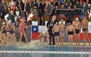 Presidente Piñera Inauguró Primer Polideportivo Con Piscina Semi-Olímpica En Temuco