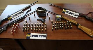PDI Incautó Armas De Diverso Calibre En Allanamiento a Comunidad Mapuche De Collipulli