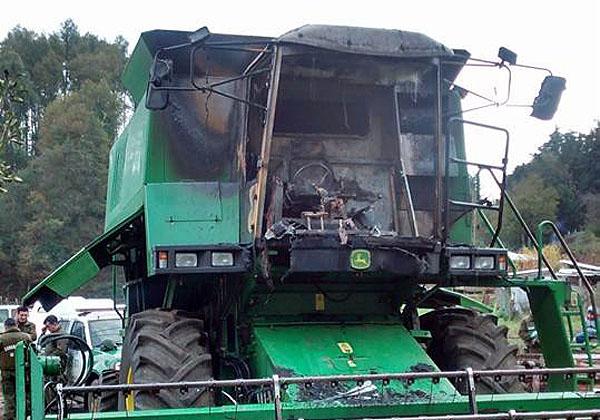 Queman Maquinaria Agrícola En Sector Rural De Ercilla