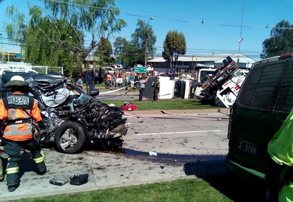 Dos Fallecidos Dejó Trágica Colisión En Temuco