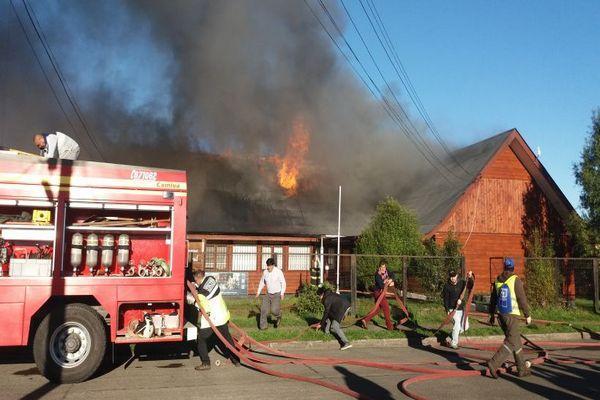 Voraz Incendio Afectó La Biblioteca Pública Municipal De Toltén