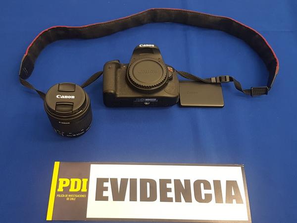 PDI Recupera Cámara Fotográfica Avaluada En Un Millón De Pesos