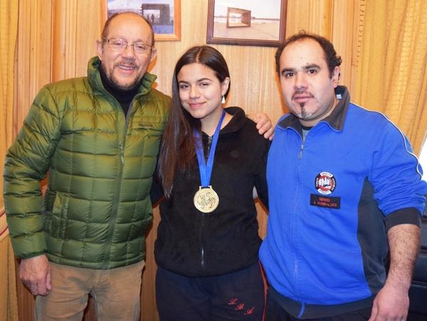 Villarrica Celebra Tener A La Campeona Panamericana De Karate