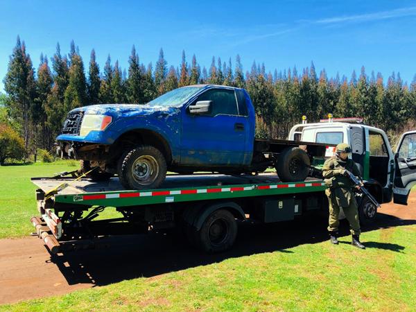 Carabineros recuperó camioneta robada en Collipulli
