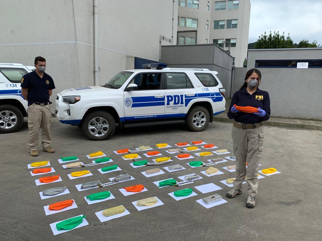 PDI Saca de Circulación 34 Mil Dosis de Marihuana en Paso Pino Hachado