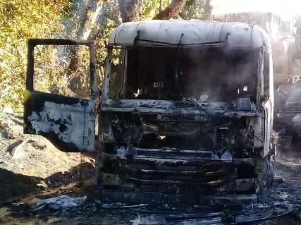 Policía Investiga Ataque Incendiario a Camión en Ruta Imperial-Carahue