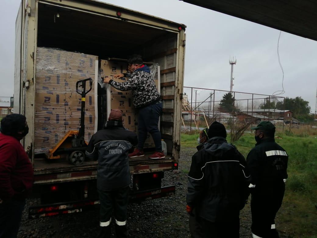 "Segunda Entrega de Plan ""Alimentos para Chile"" Repartirá 1.400 Cajas en Toltén"