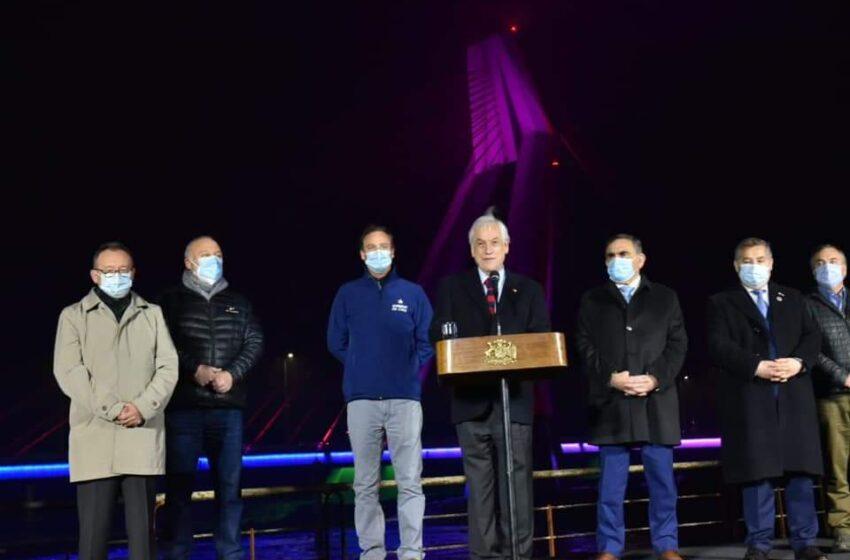 Presidente Piñera Inauguró Puente Treng Treng-Kay Kay Que Une Temuco-Padre Las Casas