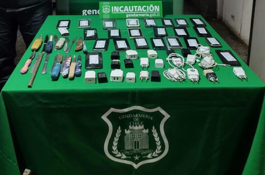 Gendarmería Incauta Elementos Prohibidos En Centro De Detención Preventiva De Villarrica